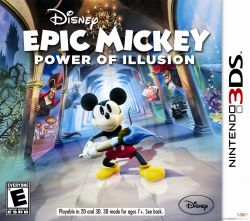 Disney Epic Mickey: Power of Illusion - Seminovo - Nintendo 3DS (s/ case)