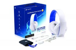 Headset Wireless Stereo Gold 2.0 - White Branco Edition 7.1 - PS3 / PS4 / PSVita / PC
