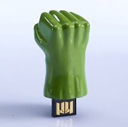 Pen Drive: Hulk (Mão do Hulk) - 8 GB