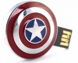 Pendrive: Capitão America (Escudo) - 8 GB
