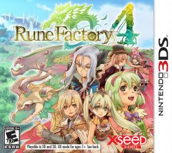 Rune Factory 4 - Seminovo - Nintendo 3DS