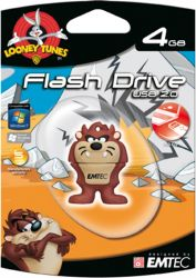 Pen Drive Looney Tunes - Taz 4Gb - Emtec