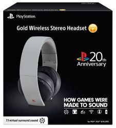 Headset Wireless Stereo Gold 20th Anniversary Edition 7.1 - PS3 / PS4 / PSVita / PC