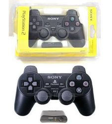 Controle Sony Original Wireless Preto - PS2