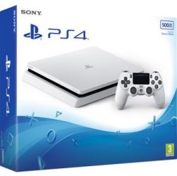 Console Playstation 4 Slim Branco White Edition 500GB  - PS4