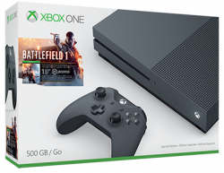 Console Xbox One S 4K 500GB + Battlefield 1 - Black Edition - Xbox One