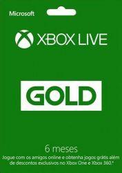Microsoft Live Gold Card 6 Meses - Live Brasil - Xbox 360 e Xbox One