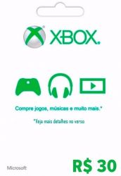 Microsoft Xbox Live 30 - Live Brasil - Xbox 360 e Xbox One