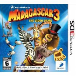 Madagascar 3 : The Video Game - Seminovo - Nintendo 3DS (S/ Case)