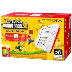 Console Nintendo 2DS Branco/Vermelho c/ Super Mario Bros 2 (Pré instalado)