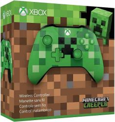 Controle Wireless Minecraft Pixel Edition Bluetooth c/ entrada P2 - Xbox One / Xbox One S