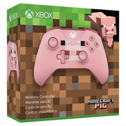 Controle Wireless Minecraft Pixel Pig Edition Bluetooth c/ entrada P2 - Xbox One / Xbox One S