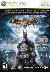 Batman Arkham Asylum 3D: Game of The Year Edition - Xbox 360