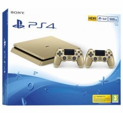 Console Playstation 4 Slim 500GB c/ 2 Controles Versão Gold PS4