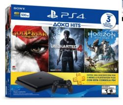 Console Playstation 4 Slim 500GB + 3 Jogos + PSN Plus 3 Meses  - PS4