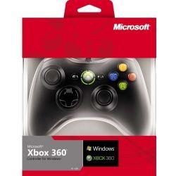 Controle Preto Original Microsoft c/ Fio - Xbox 360