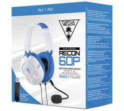 Headset Turtle Beach Ear Force Recon 60P  Branco - PS4 / PS3