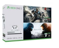 Console Xbox One S 4K 500GB + Jogos Gears of War & Halo 5