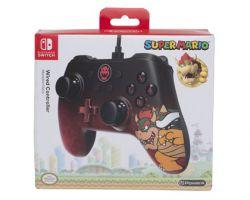 Controle com fio POWERA - Bowser Edt. - Nintendo Switch
