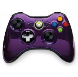 Controle Wireless Chrome Series Roxo Microsoft - Seminovo - Xbox 360 (s/ caixa)