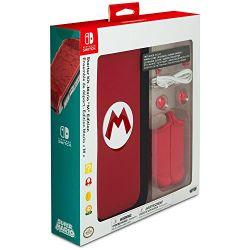 """Kit Starter Mario """"M"""" Edition Case de Proteção - Nintendo Switch"""