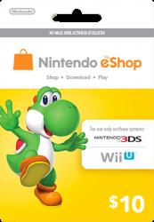 Cartão Nintendo Eshop USA  $10 - 3DS / Wii U (Cash Card)