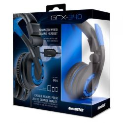 Headset Dreamgear GRX-350 Stereo - Azul - Compatível com Playstation 4, PS Vita, Xbox 360, Xbox One, Nintendo Switch