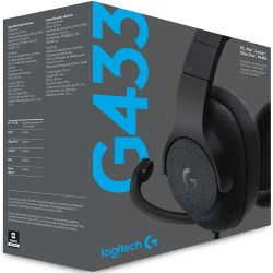 Headset Gamer Logitech G433 Surround Drivers Pro-G Preto - Compatível com Playstion 4, Xbox One, Nintendo Switch, PC e Mobile