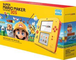 Console Nintendo 2DS Amarelo/Vermelho c/ Super Mario Maker (Pré instalado)