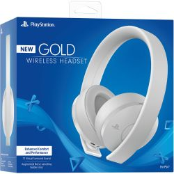 New Headset Wireless Stereo Gold Edition White Branco 7.1 - PS3 / PS4 / PSVita / PC