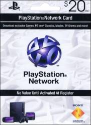 Cartão PSN - Playstation Network Card - $20