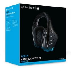 Headset Logitech G933 - Artemis Spectrum 7.1 Surround RGB 16.8M (USB/Wireless)