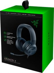 Headset Razer Kraken X 7.1 Gaming Classic Black - PC/MAC/PS4/Switch/Xbox One/Mobile