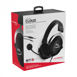 Headset Gamer HyperX Cloud Silver - PS4 / Nintendo Switch / Xbox One