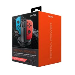 Carregador Quadruplo Joy-Con Bionik - Nintendo Switch (Tetra Power)(C