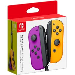 Controle Joy-Con L/R Neon Purple/Neon Orange - Nintendo Switch