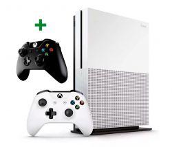 Console Xbox One S 4K 1TB c/ 2 Controles (Preto e Branco)