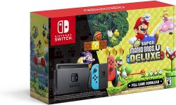 Console New Nintendo Switch Neon c/ Super Mario Bros. U Deluxe (Digital)