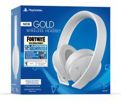 New Headset Wireless + Fortnite Neo Versa Bundle Stereo Gold Edition White Branco 7.1 - PS3 / PS4 / PSVita /PC