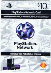 Cartão PSN - Playstation Network Card - $10