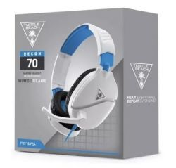 Headset Turtle Beach Recon 70 Branco - PS4 / PS5 / Xbox One / Xbox Séries / Switch