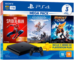 Console Sony PlayStation 4 PS4 Mega Pack 15, 1TB, Horizon Zero Dawn Complete Edition + Marvel