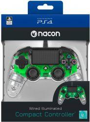 Controle Nacon com fio Wired Illuminated Green - PS4