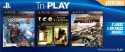 Kit Triplay Aventura - Uncharted 2, Shadow of The Colossus & Motorstorm Apocalypse  - PS3