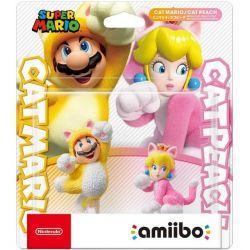 Amiibo Super Mario Series Figure Mario & Peach Cat - Nintendo Switch