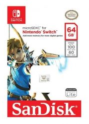 Memória SanDisk 64GB microSDXC-Card - Nintendo-Switch