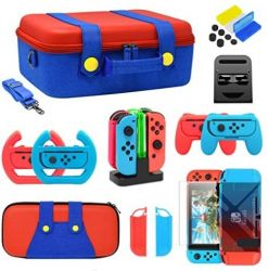 Kit Bundle Case + Acessórios 20 em 1 - Nintendo Switch