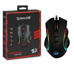 Mouse Redragon Griffin RGB Gaming M607 - Preto