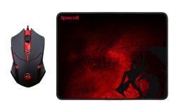 Kit Mousepad + Mouse sem fio Redragon M601