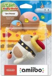 Amiibo Yarn Poochy  Yoshi Wolly World Series